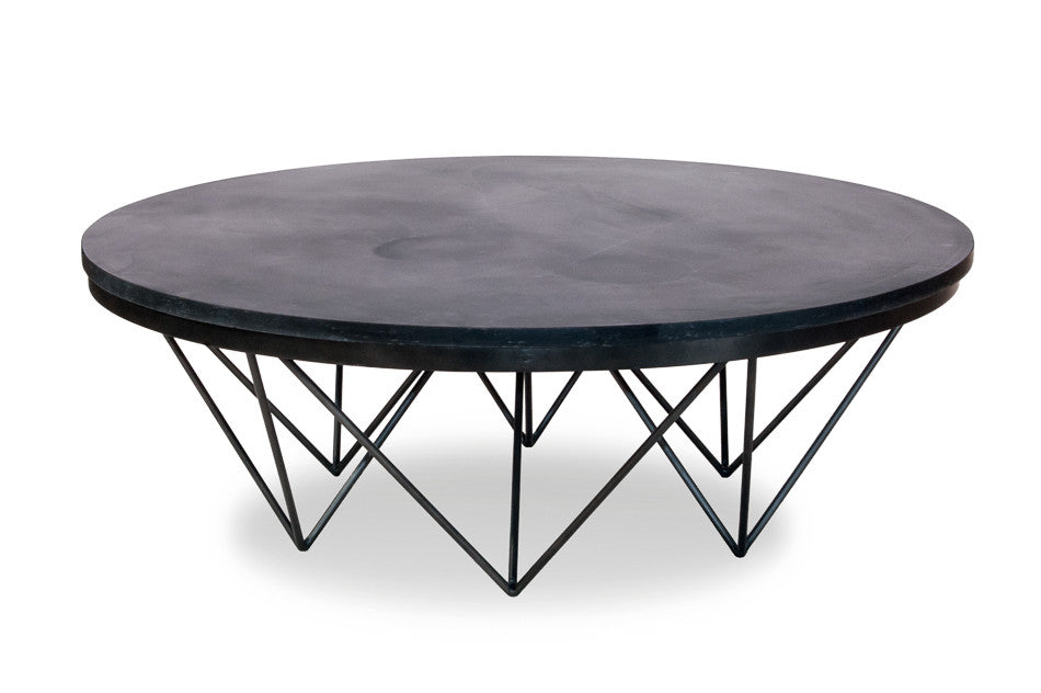 Wax Cocktail Table, slate top table, modern coffee table