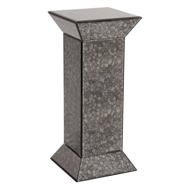 Modern Grey Acid Treated Mirrored Pedestal, display stand, contemporary pedestal