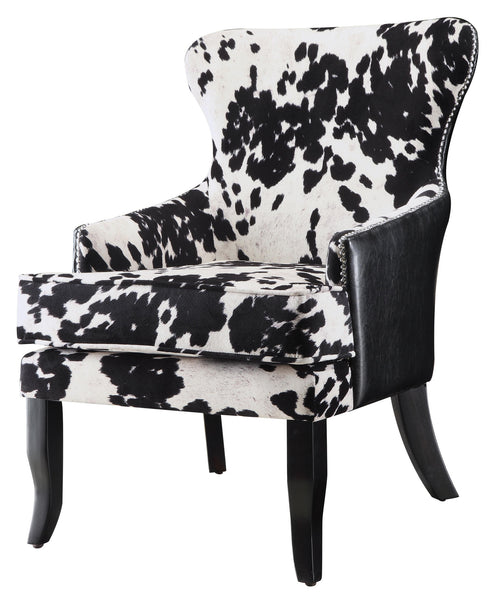 Mooey Chair, cow print chair, modern chair, black and white chair,