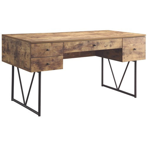 Ellis Desk, industrial desk, reclaimed desk