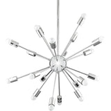 Modern Chrome Plated Chandelier