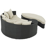 Beige Outdoor Daybed