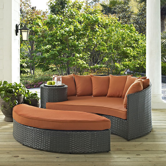 Orange Outdoor Daybed