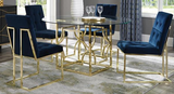 The Quaid II Dining Chair S/2 Gold