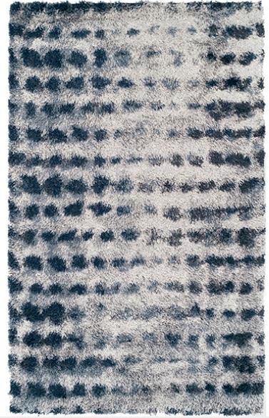 Denim Spot Shag Rug