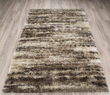 Linear Earth Shag Rug