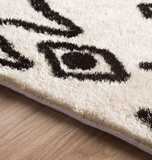 Tribal Comfort Area Rug Off White