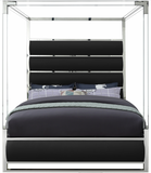 Bliss Modern Acrylic Canopy Bed Black