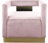Boxy Modern Chair Pink
