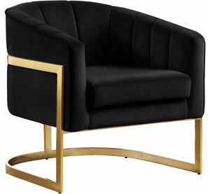 Celeste Modern Accent Chair Black