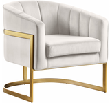 Celeste Modern Accent Chair Cream