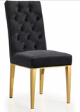 Jamie Dining Chair S/2 Gold/Black