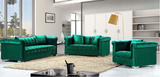 Kristof Modern Accent Chair Green