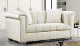 Kristof Modern Loveseat  Cream
