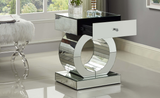 Orion Modern Mirrored Bedside Table