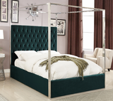 Structure Modern Canopy Bed Green