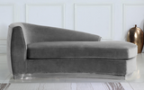 The Shell Curved Chaise Lounge Grey/Silver