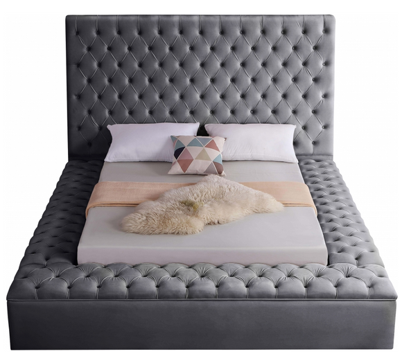 Tuck-Away Modern Storage Bed Grey