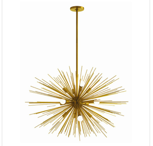 Spike Ceiling Light Fixture, Modern light fixture, starburst light fixture