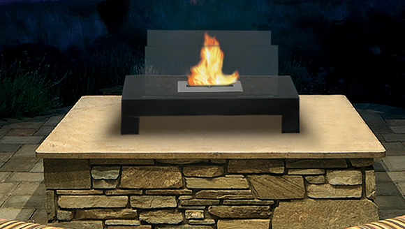 Free Standing Black Fireplace