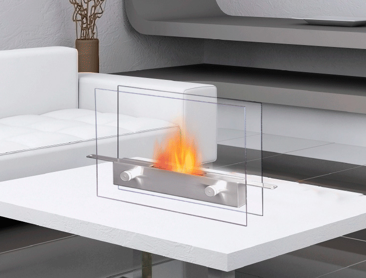 Small Glass Fireplace