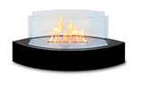 Black Contemporary Small Freestanding Fireplace