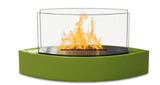 Green Contemporary Small Freestanding Fireplace