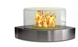 Stainless Steel Contemporary Small Freestanding Fireplace