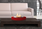 Red Contemporary Small Freestanding Fireplace