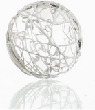 White Ball Glass Wall Decor