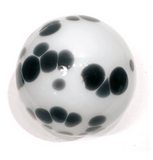 Black and White Spotted Glass Sphere Wall Art