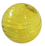 Yellow 3D round glass Wall Art