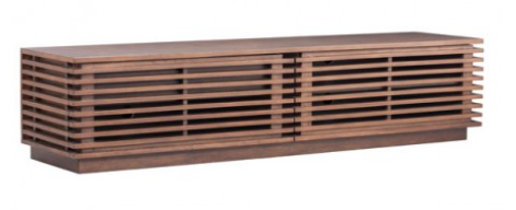 Wood Slat TV Console