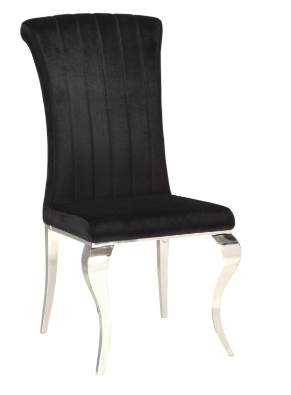 black velvet side chair