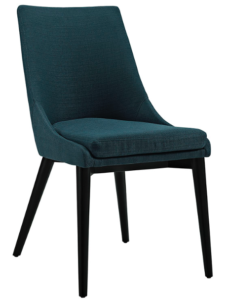 Azure Mid Century Modern Dining Chair with tapered legs