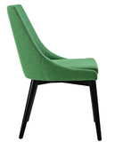 Green Mid Century Modern Dining Chair with tapered legs
