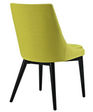 Wheatgrass Mid Century Modern Dining Chair with tapered legs