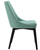 Laguna Mid Century Modern Dining Chair with tapered legs