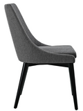 Grey Mid Century Modern Dining Chair with tapered legs