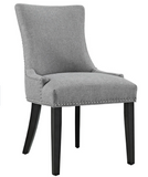 Light Grey Dining Side Chair with nailhead trim