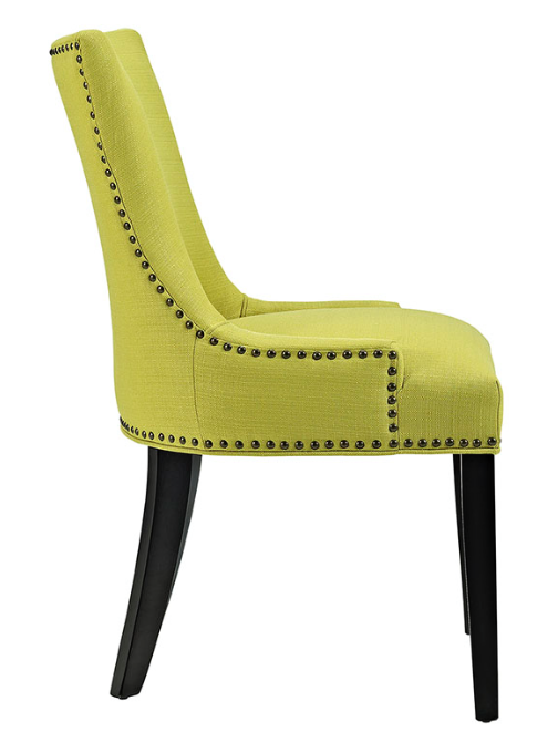 Wheatgrass Dining Side Chair with nailhead trim