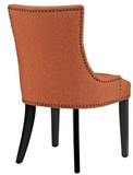 Orange Dining Side Chair with nailhead trim