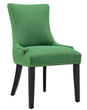 Green Dining Side Chair with nailhead trim