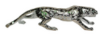 Silver creeping leopard sculpture animal