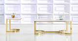 Marble Top Coffee Table and End Table with gold base