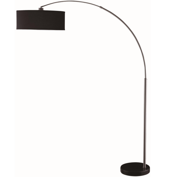 Contemporary Black Arched Floor Lamp