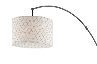 Arched Floor Lamp with pattered shade