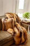 Della Red Fox Faux Fur Throw