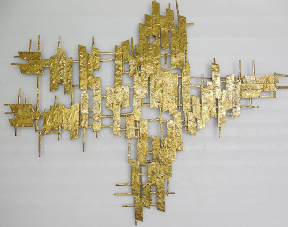 Brass Wall Art in an organic shape