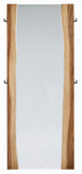 The Timber Edge floor mirror is stylish and organic.  The rich wood tones are modern and the side hangers make if a functional piece to hang clothes on.